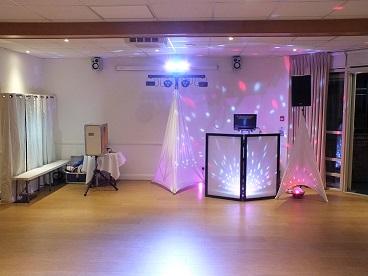 DJ Gavin Vaclavik small nano booth wedding set up