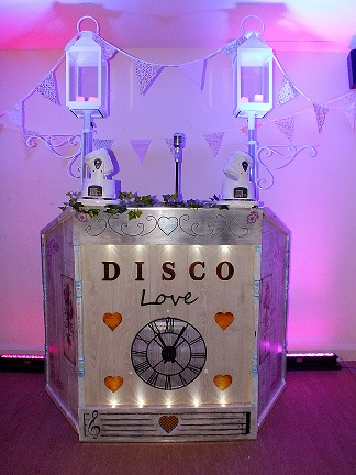 Vintage retro themed shabby chic Disco booth from DJ Gavin Vaclavik