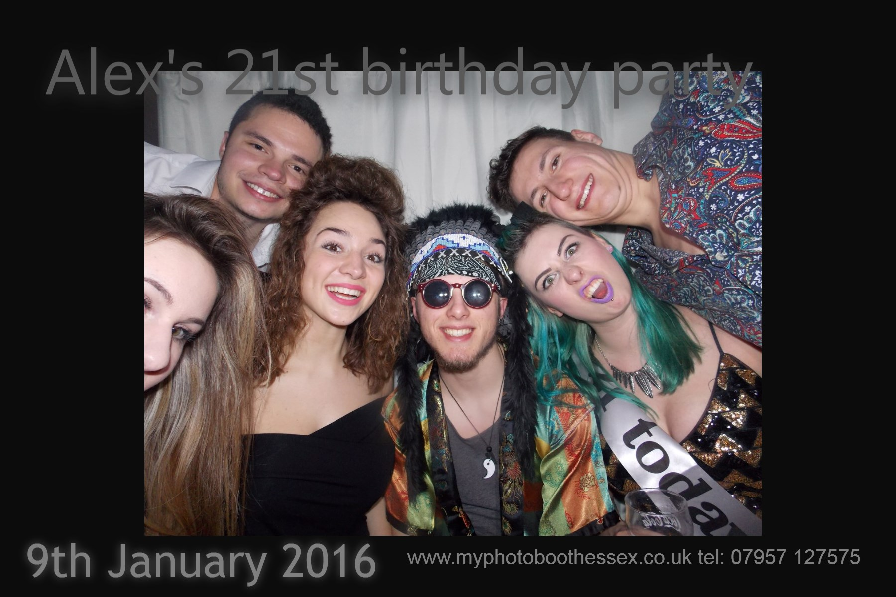 photobooth for 21st birthday party